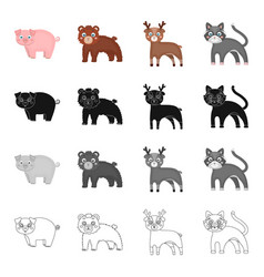 piglet animal domestic and other web icon in vector image vector image