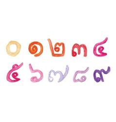 Thai number vector