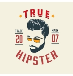 True Hipster Vintage Label vector image