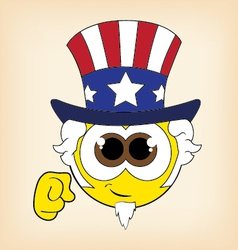 uncle sam smiley vector image
