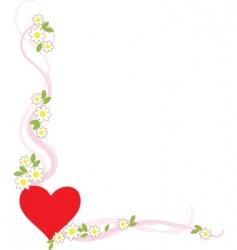 valentine corner vector image vector image