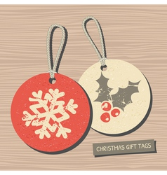 vintage style christmas gift tags vector image vector image
