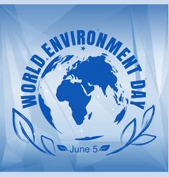 World environment day card vector