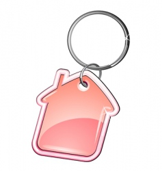 house as a key ring vector image