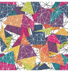 Low-poly colorful seamless converted vector