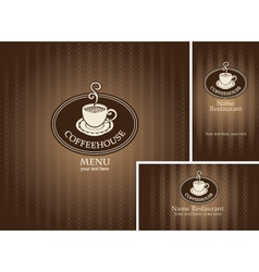 menus and business cards vector image