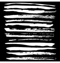 Handdrawn ink brush strokes vector