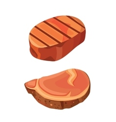 beef steak meat vector image