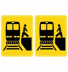 Train station signs vector