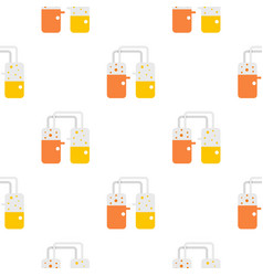 Transparent laboratory reservoirs pattern vector