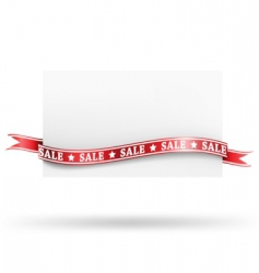 blank sale tag with ribbons vector image