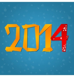 2014 New Year celebration card vector image vector image