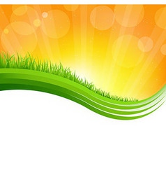 Shiny background with green grass vector