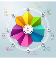 Business Infographics circle origami template vector image