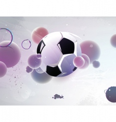 football with the abstract vector image