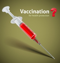 Syringe with vaccine vector