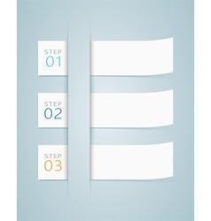 Infographic 3d numbered step ribbons 2 vector