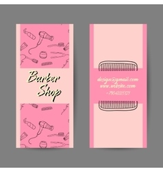 Barber shop business cards vector