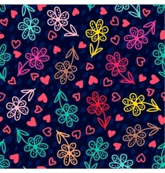 Set of banners colorful floral seamless pattern vector