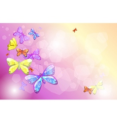 A stationery with colorful butterflies vector image