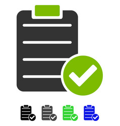 Approve list flat icon vector