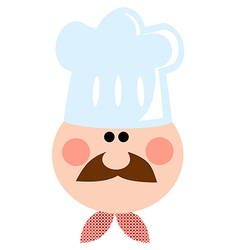 Cartoon Chef Man vector image vector image
