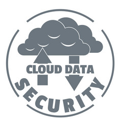 cloud data security logo simple style vector image