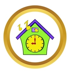 Cuckoo clock icon cartoon style vector image