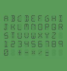 digital font on green background vector image