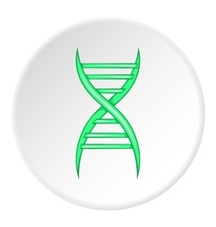 DNA icon cartoon style vector image