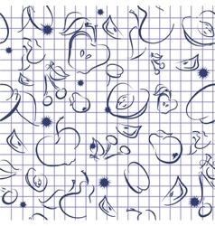 Doodle Fruit Background vector image vector image