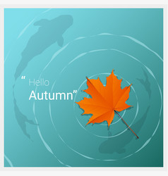Hello autumn background vector