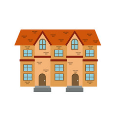 Houses facade brick windows door traditional vector