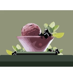 Ice cream bowl vector