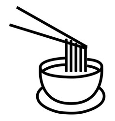 instant soup icon vector image vector image
