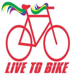 Live to bike vector