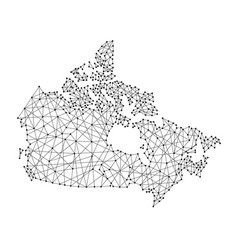 map of canada from polygonal black lines vector image vector image