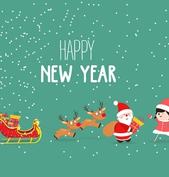 Merry Christmas and New Year Card Background vector image vector image