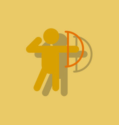 Olympic games archery player athlete icon in vector