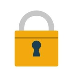 padlock lock security money bank vector image