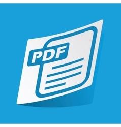 Pdf file sticker vector