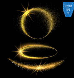 sparkling confetti wave stardust glitter vector image vector image