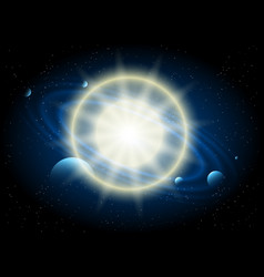 star and planet astronomy background vector image vector image