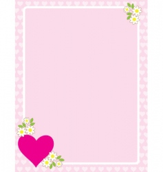 valentines border vector image vector image