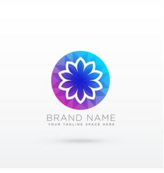 vibrant flower logo design concept vector image vector image