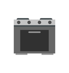 Gas stove icon flat style vector