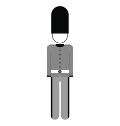 England soldier isolated icon vector