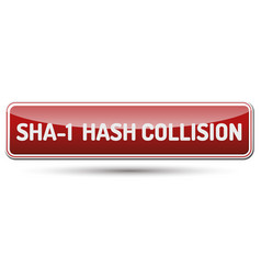 sha-1 shattered collision attack vector image