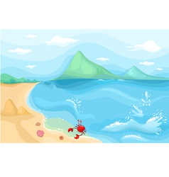 sea side vector image