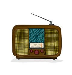 Retro style radio vector image